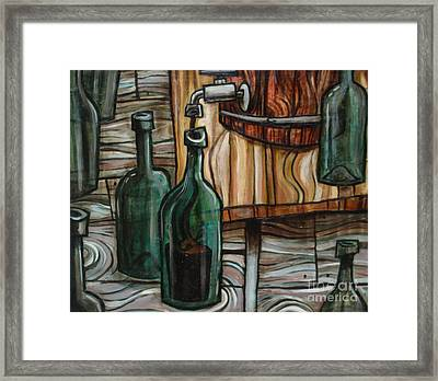 Barrel To Bottle Framed Print by Sean Hagan