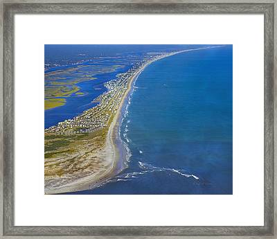 Barrier Island Aerial Framed Print by Betsy C Knapp