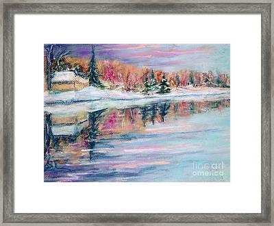 Barrie's Pond Framed Print by Lorrie Sniderman