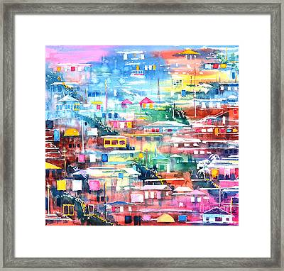 Barrio El Cerro De Yauco Framed Print by Zaira Dzhaubaeva