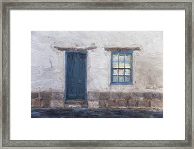Barrio Historico Tucson Painterly Look Framed Print by Carol Leigh