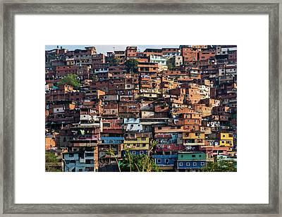 Barrios, Slums Of Caracas Framed Print by Keren Su