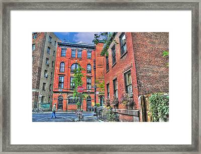 Barrow Street Stroll Framed Print by Randy Aveille