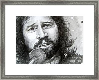 Barry Gibb Framed Print by Patrice Torrillo