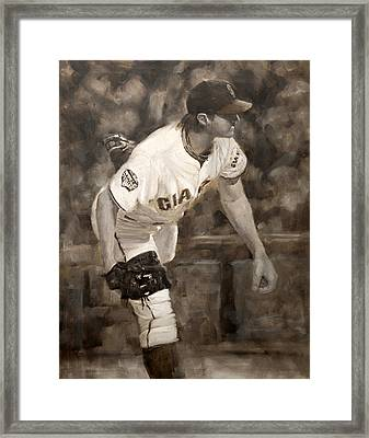Barry Zito - Redemption Framed Print by Darren Kerr