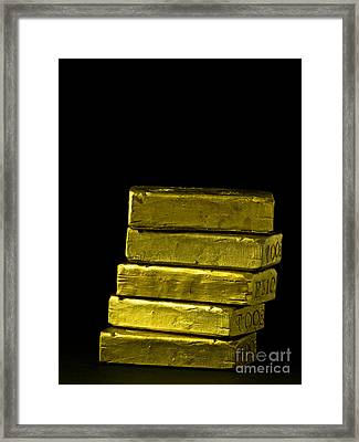 Bars Of Gold Framed Print by Edward Fielding