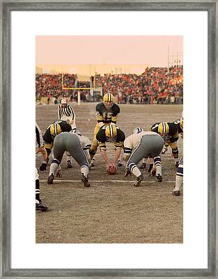 Bart Starr Goal Line Framed Print by Retro Images Archive