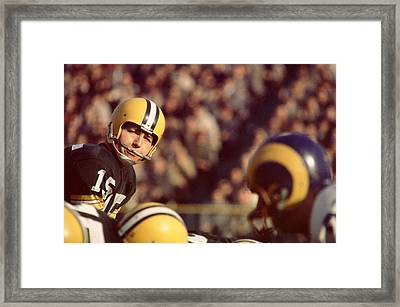 Bart Starr Looks  Framed Print by Retro Images Archive