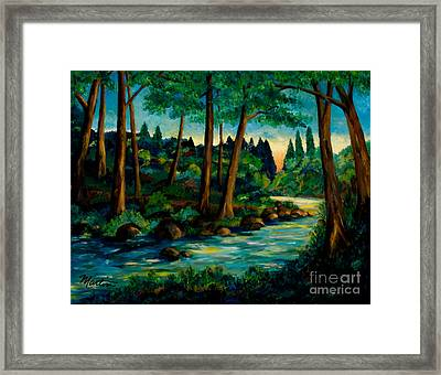 Bartons Creek Framed Print by Larry Martin