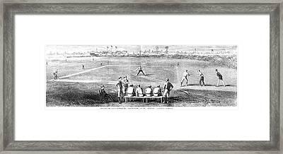 Baseball, 1870 Framed Print by Granger