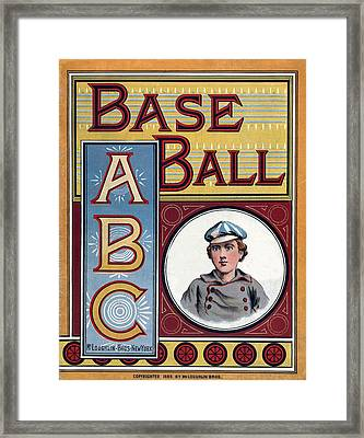 Baseball Abc Framed Print by McLoughlin Bros