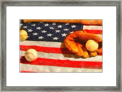 Baseball An American Pastime Framed Print by Dan Sproul