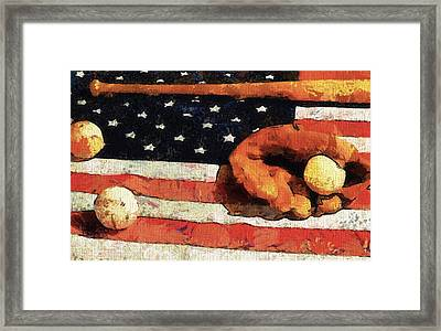 Baseball An American Tradition Framed Print by Dan Sproul