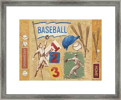 Baseball Framed Print by Anita Phillips