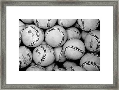 Baseball Black And White Framed Print by Joe Hamilton