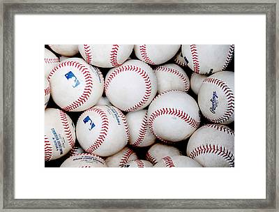 Baseball Color Framed Print by Joe Hamilton