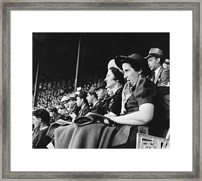 Baseball Fans At Polo Grounds Framed Print by Underwood Archives
