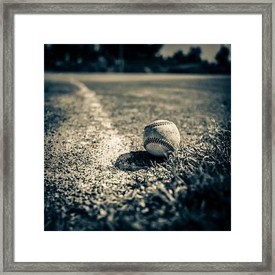Baseball Field 2 Framed Print by Yo Pedro