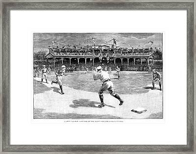 Baseball Game, 1886 Framed Print by Granger
