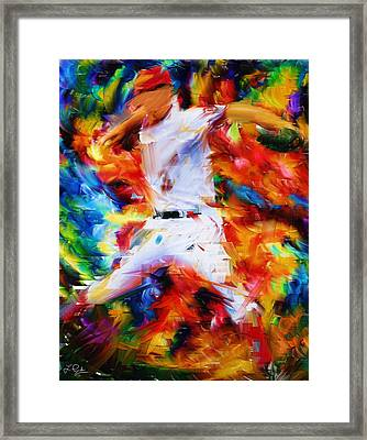 Baseball  I Framed Print by Lourry Legarde