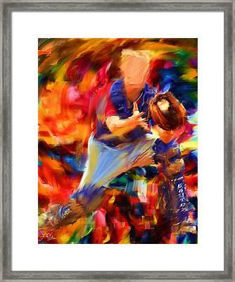 Baseball II Framed Print by Lourry Legarde