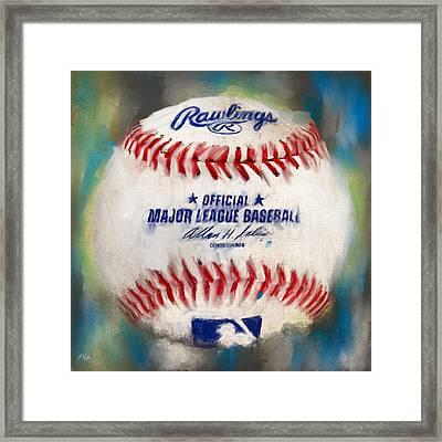 Baseball Iv Framed Print by Lourry Legarde