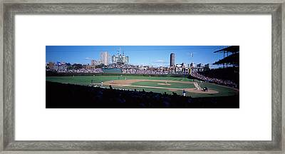 Baseball Match In Progress, Wrigley Framed Print by Panoramic Images