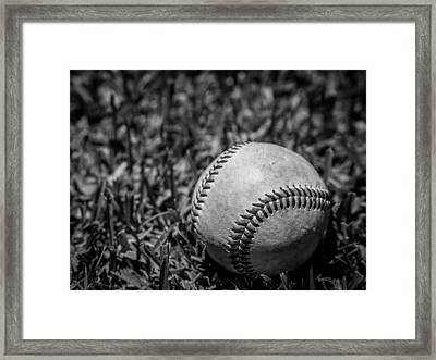 Baseball Nostalgia Series Number 5 Framed Print by Justin Woodhouse