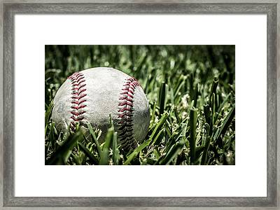 Baseball Nostalgia Series Number One Framed Print by Justin Woodhouse