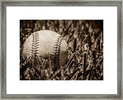 Baseball Nostalgia Series Number Three Framed Print by Justin Woodhouse