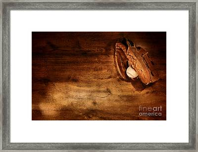 Baseball Framed Print by Olivier Le Queinec