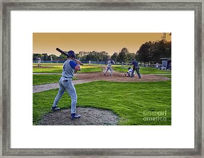 Baseball On Deck Circle Framed Print by Thomas Woolworth