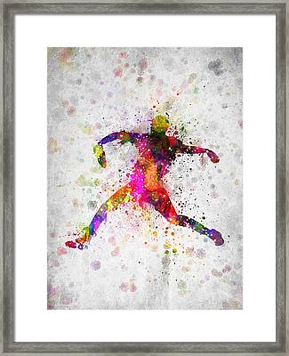 Baseball Player - Pitcher Framed Print by Aged Pixel
