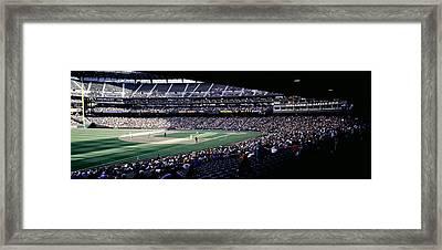 Baseball Players Playing Baseball Framed Print by Panoramic Images