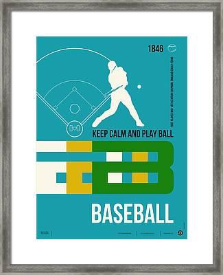 Baseball Poster Framed Print by Naxart Studio