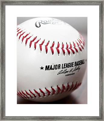 Baseball Framed Print by Ricky Barnard