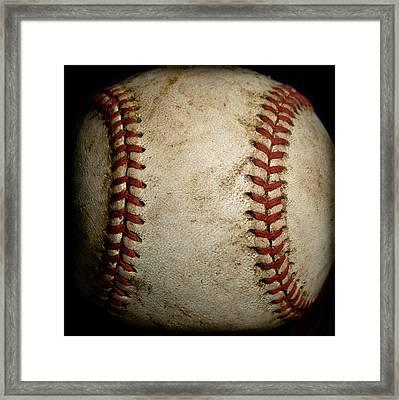 Baseball Seams Framed Print by David Patterson