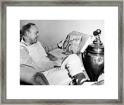 Baseball Star Ty Cobb Framed Print by Underwood Archives