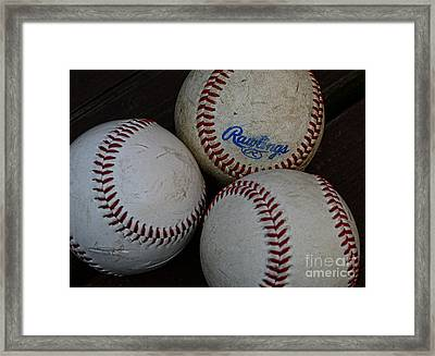 Baseball - The American Pastime Framed Print by Paul Ward