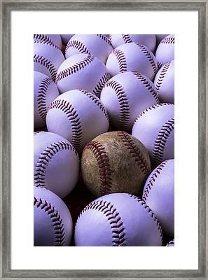 Baseballs  Framed Print by Garry Gay