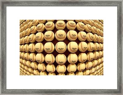 Baseballwall Framed Print by Bryan Maransky