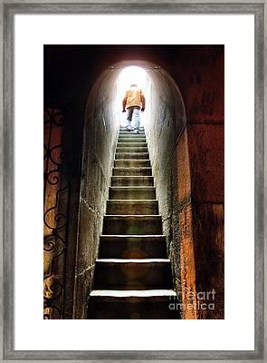 Basement Exit Framed Print by Carlos Caetano