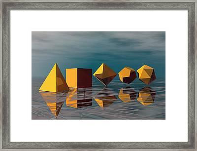 Basic Geometric Solids Framed Print by Carol & Mike Werner