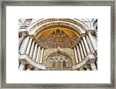 Basilica Di San Marco Framed Print by Delphimages Photo Creations