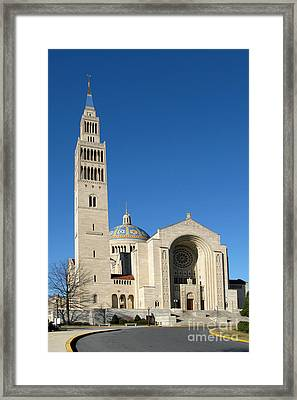 Basilica In Washington Dc Framed Print by Olivier Le Queinec