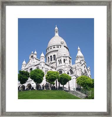 Basilica Of Sacre-coeur Framed Print by Andrea Anderegg