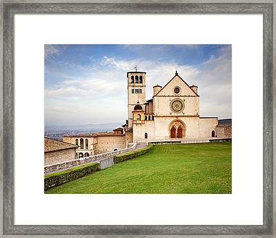 Basilica Of Saint Francis Framed Print by Susan  Schmitz