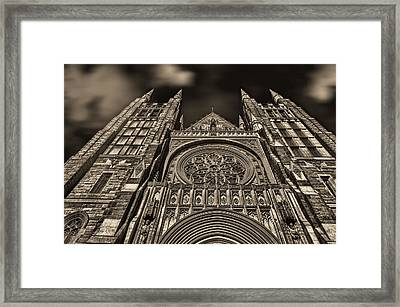 Basilica Of Saints Peter And Paul  Framed Print by Bob Orsillo