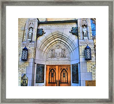 Basilica Of The Sacred Heart Entrance Framed Print by Dan Sproul