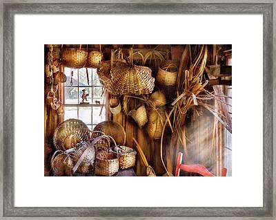 Basket Maker - I Like Weaving Framed Print by Mike Savad